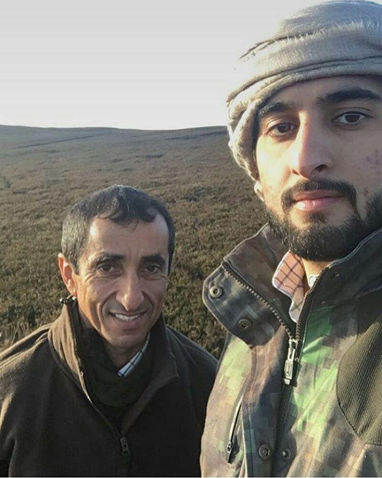 Saeed bin Maktoum bin Juma Al Maktoum y su sobrino, Ahmed bin Mohammed bin Rashid Al Maktoum, 11/2016