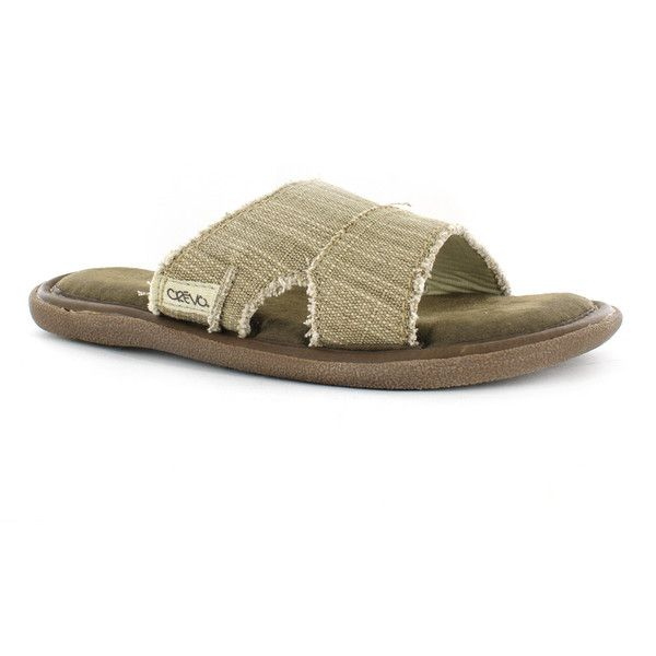 Crevo Baja II Woven Hemp Mens Sandals  CREVO Footwear  liked on Polyvore