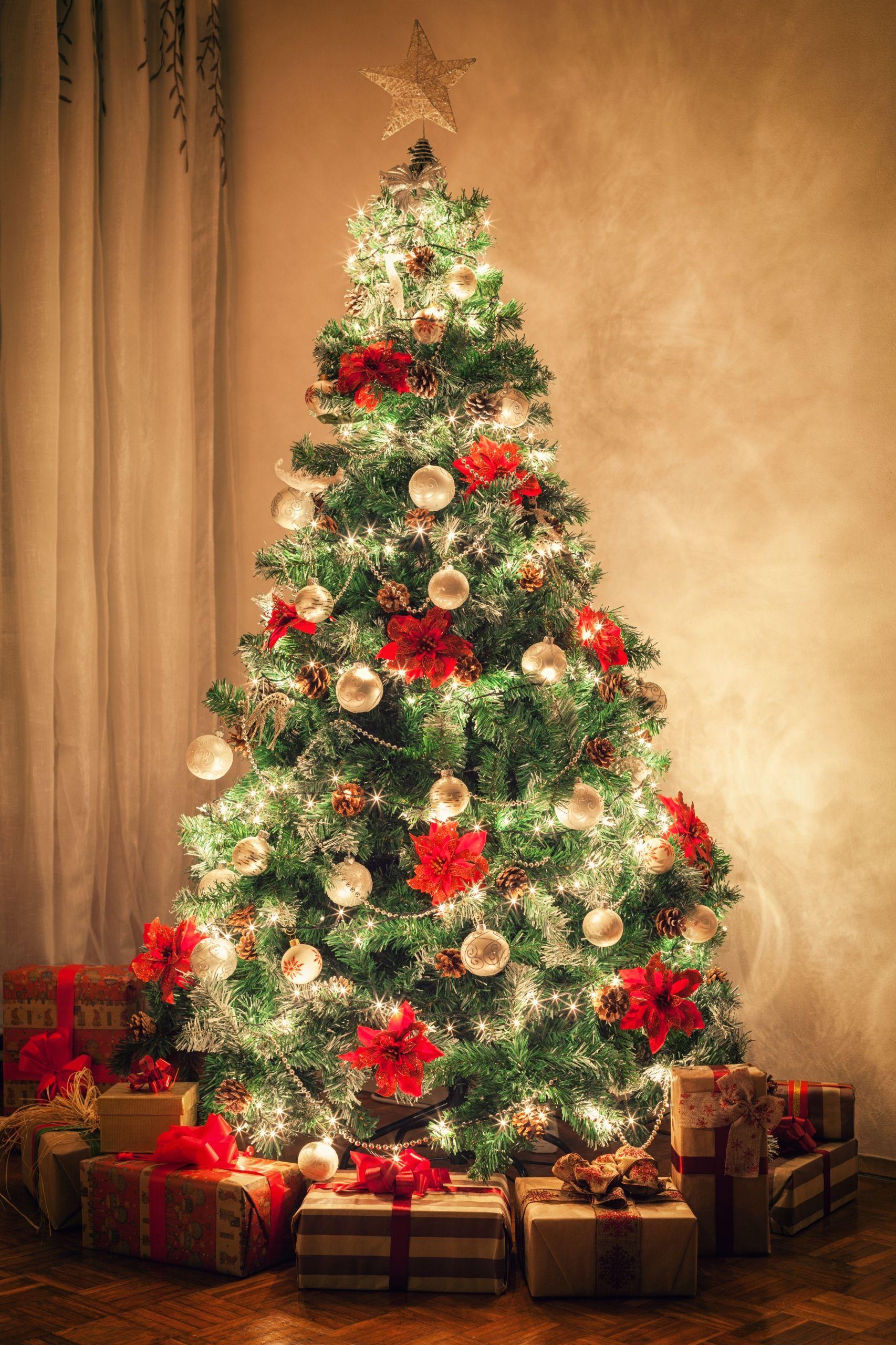 Choinka Sztuczna Sosna 220 Cm Choinki Diamentowa 7558162288 Oficjalne Archiwum Allegro Christmas Wallpaper Christmas Tree With Presents Christmas Tree