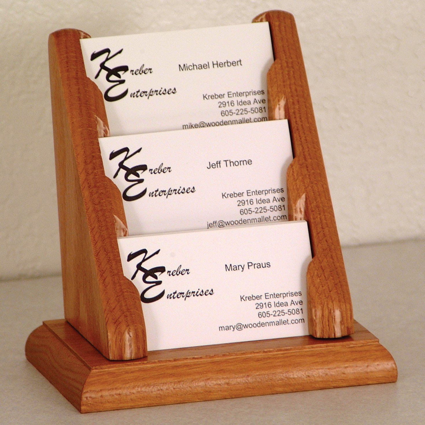 wood craft business cards