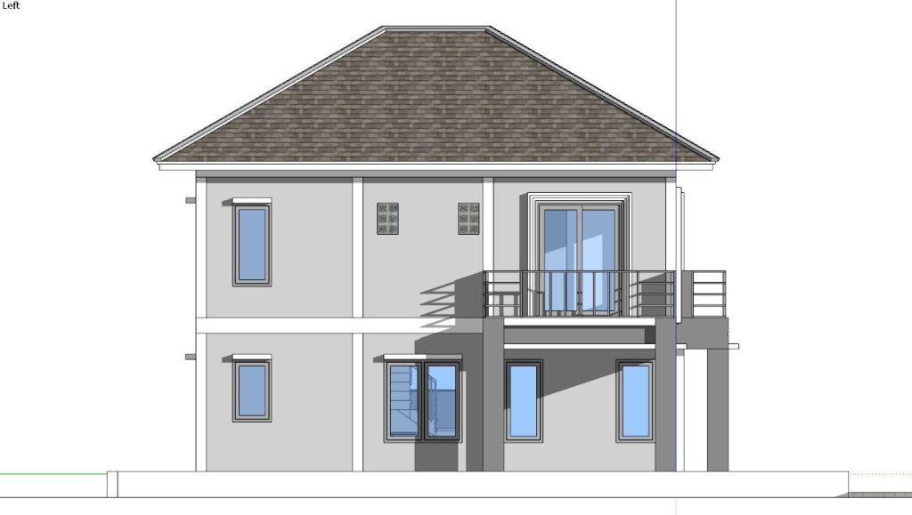 4 bedrooms home design plan 8x10m  simple house design