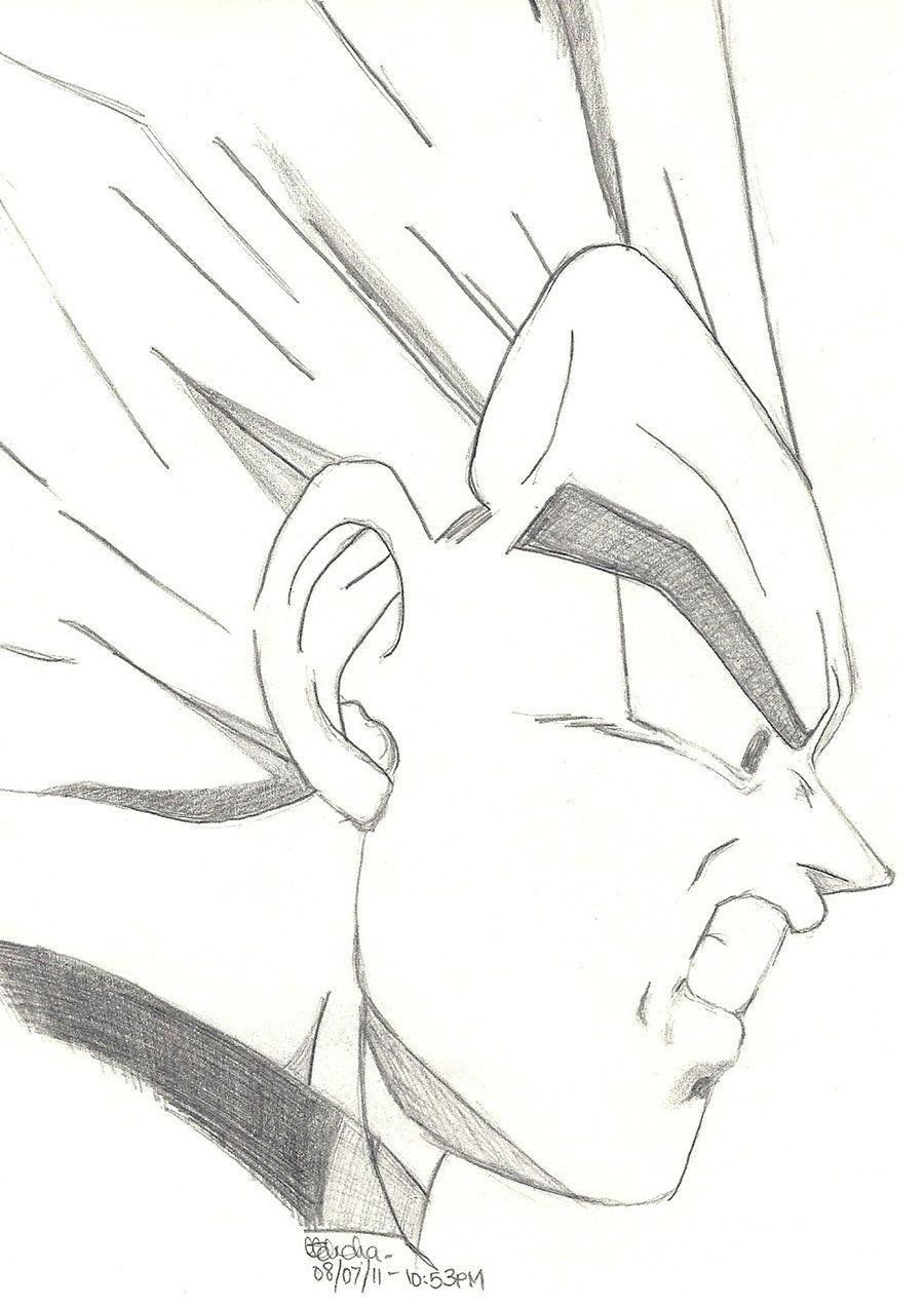 Dragon Ball Z Vegeta Sketch By Slotherius Deviantart Com