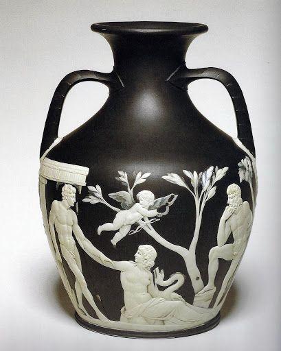 The Portland Vase Wedgwood Pottery C1790 English Burslem