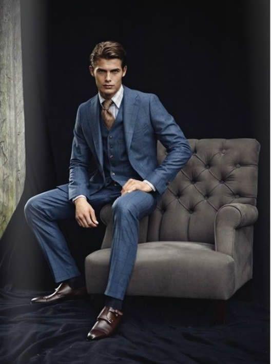 c4ffb57f2a938 Mavi ve Lacivert Takım Elbise Modelleri Blue Suits (15)   Classy ...