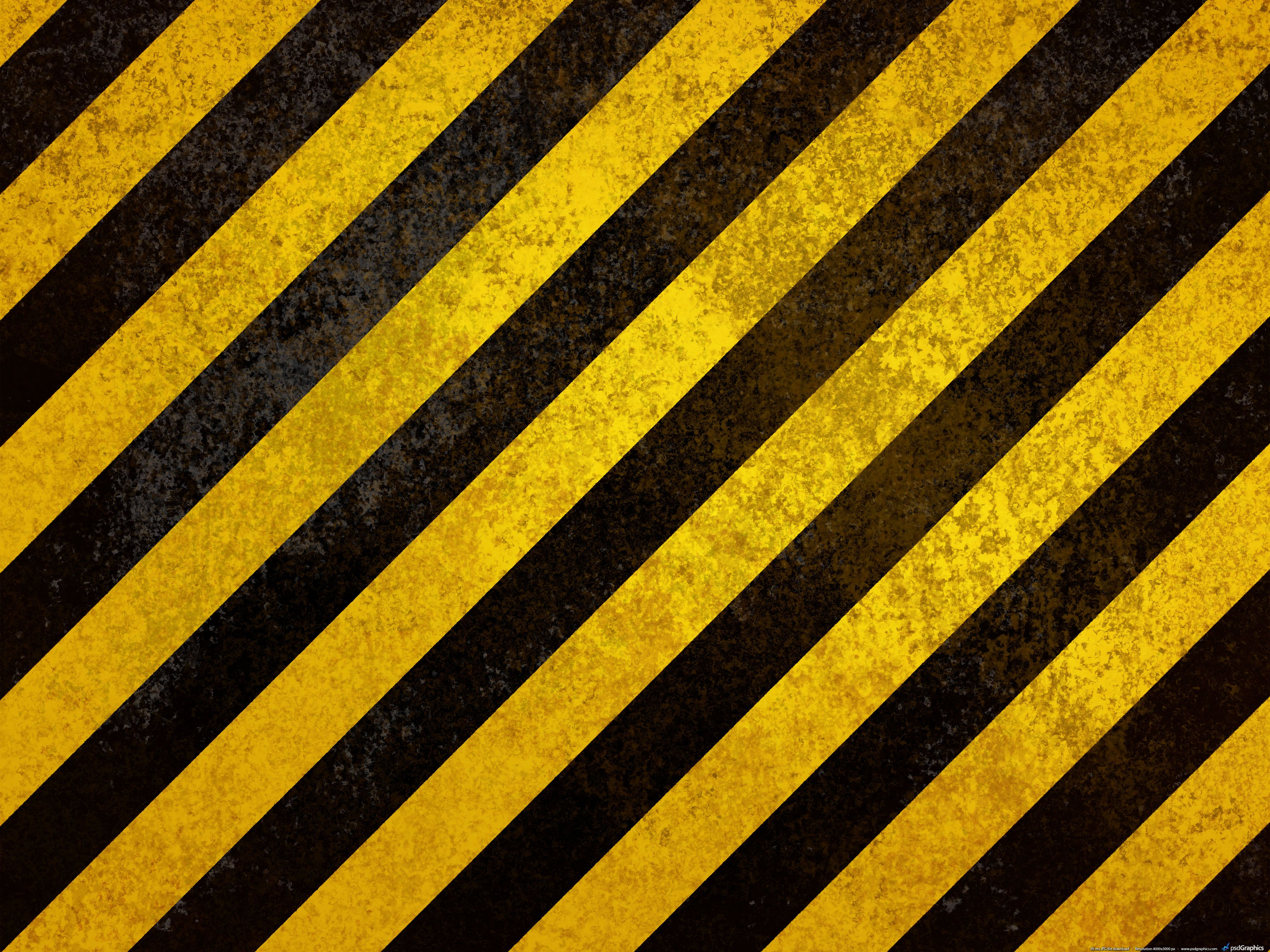 black and yellow caution stripes on metal texture | TC247 ...
