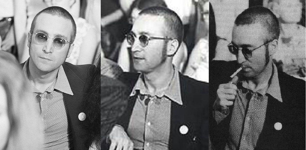John Lennon 1973 06 27 Washington Dc Former Beatle John Lennon Sporting A Short Haircut And His Wife Yoko Ono Are Amo John Lennon Short Hair Styles Lennon
