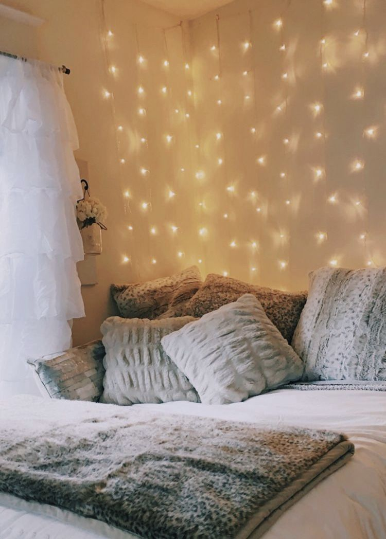 Curtain Led Lights Bedroom Decor Pretty Bedroom Dorm Room Decor