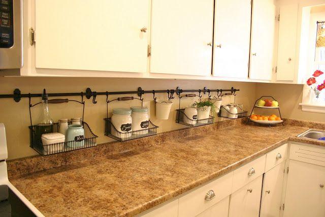 29 Design: The Newly Uncluttered Kitchen Counter  Ikea Hanging Bars On  Backsplash