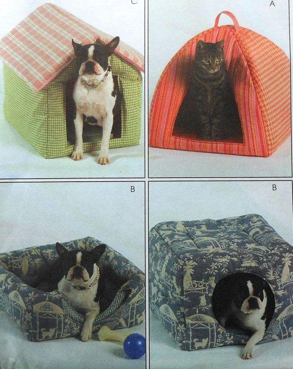 Pet Bed Sewing Pattern McCalls M5149 UNCUT cat by latenightcoffee