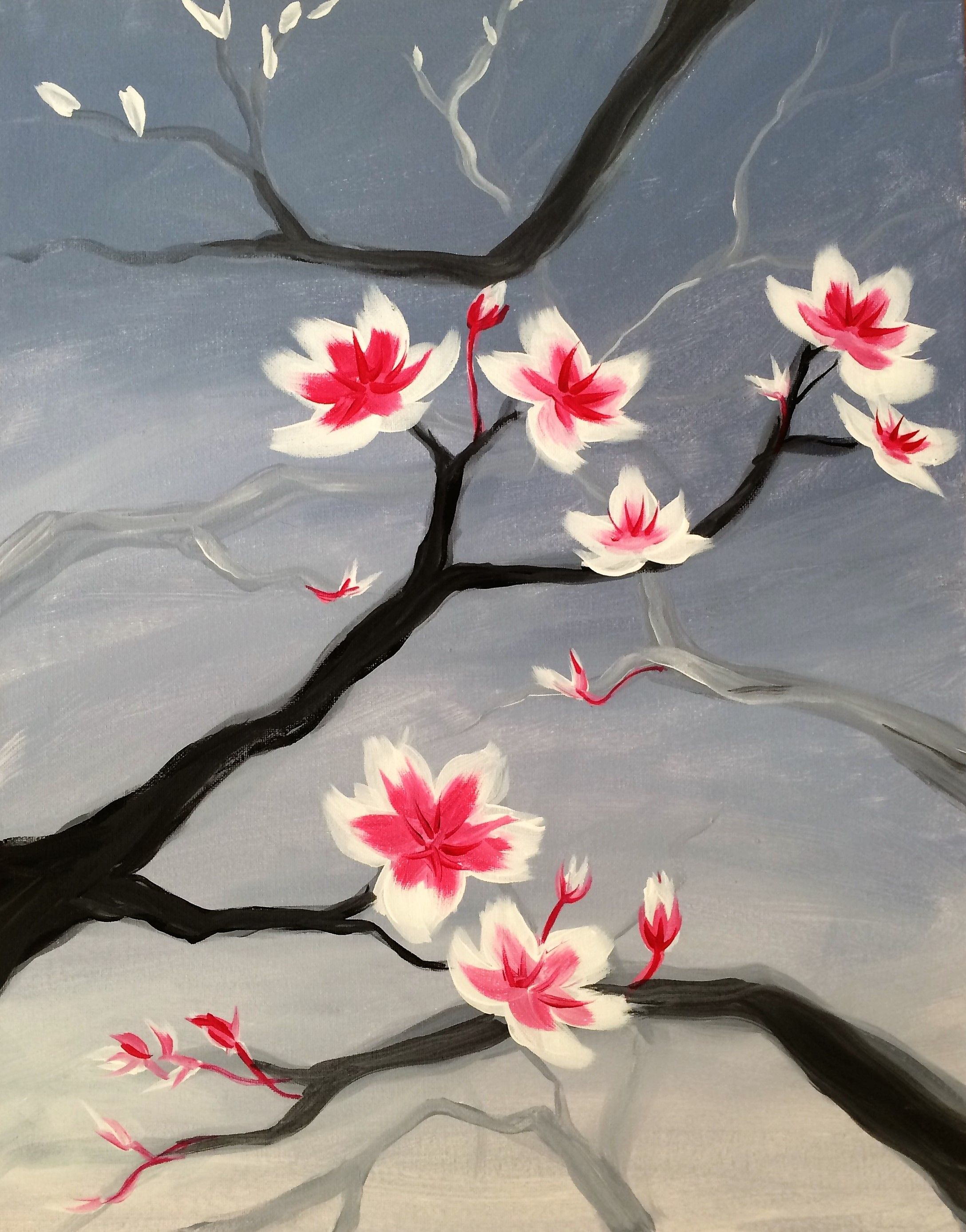 Spring Rain At Irenes Pub  Paint Nite Events