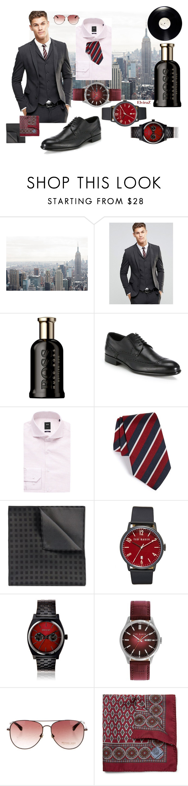 """Street style"" by elza76 on Polyvore featuring ASOS, HUGO, Gitman Bros., Ted Baker, Nixon, Michael Kors, Massimo Alba, men's fashion и menswear"