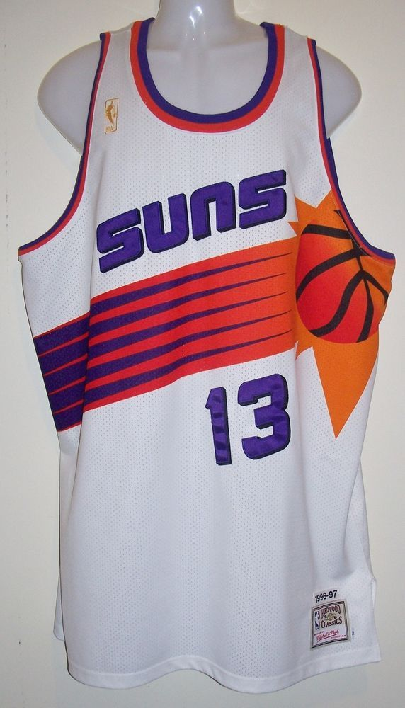 508058ddb48 Authentic Mitchell & Ness 1996-97 Phoenix Suns Steve Nash 13 Throwback  Jersey 52