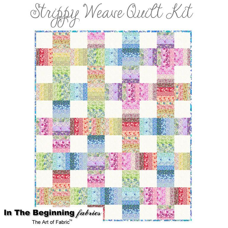 Garden Delights Strippy Weave Quilt Kit from In the Beginning ... : beginning quilting kits - Adamdwight.com
