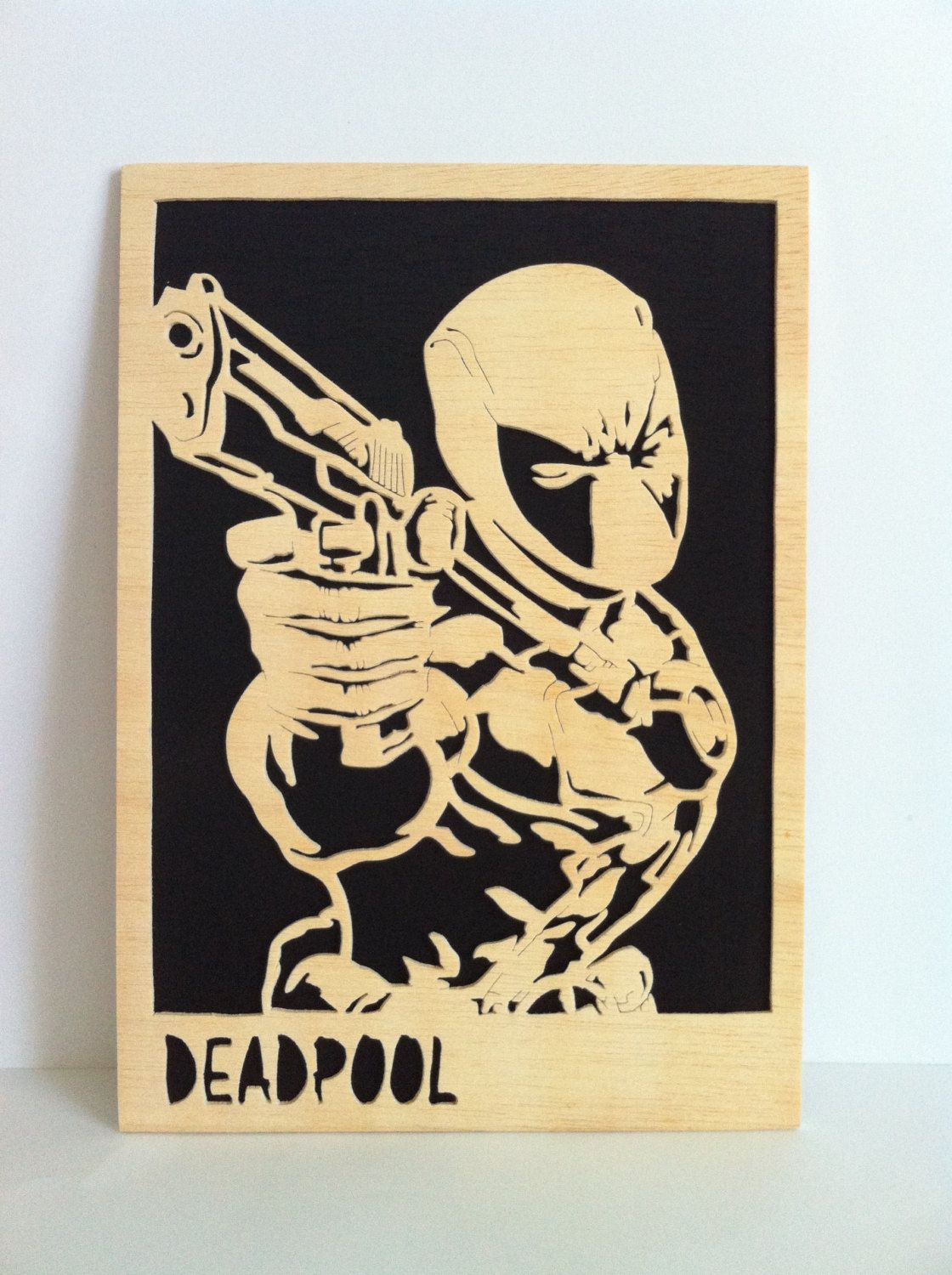 Deadpool Wooden picture scroll saw wall art by Planetasierra ...