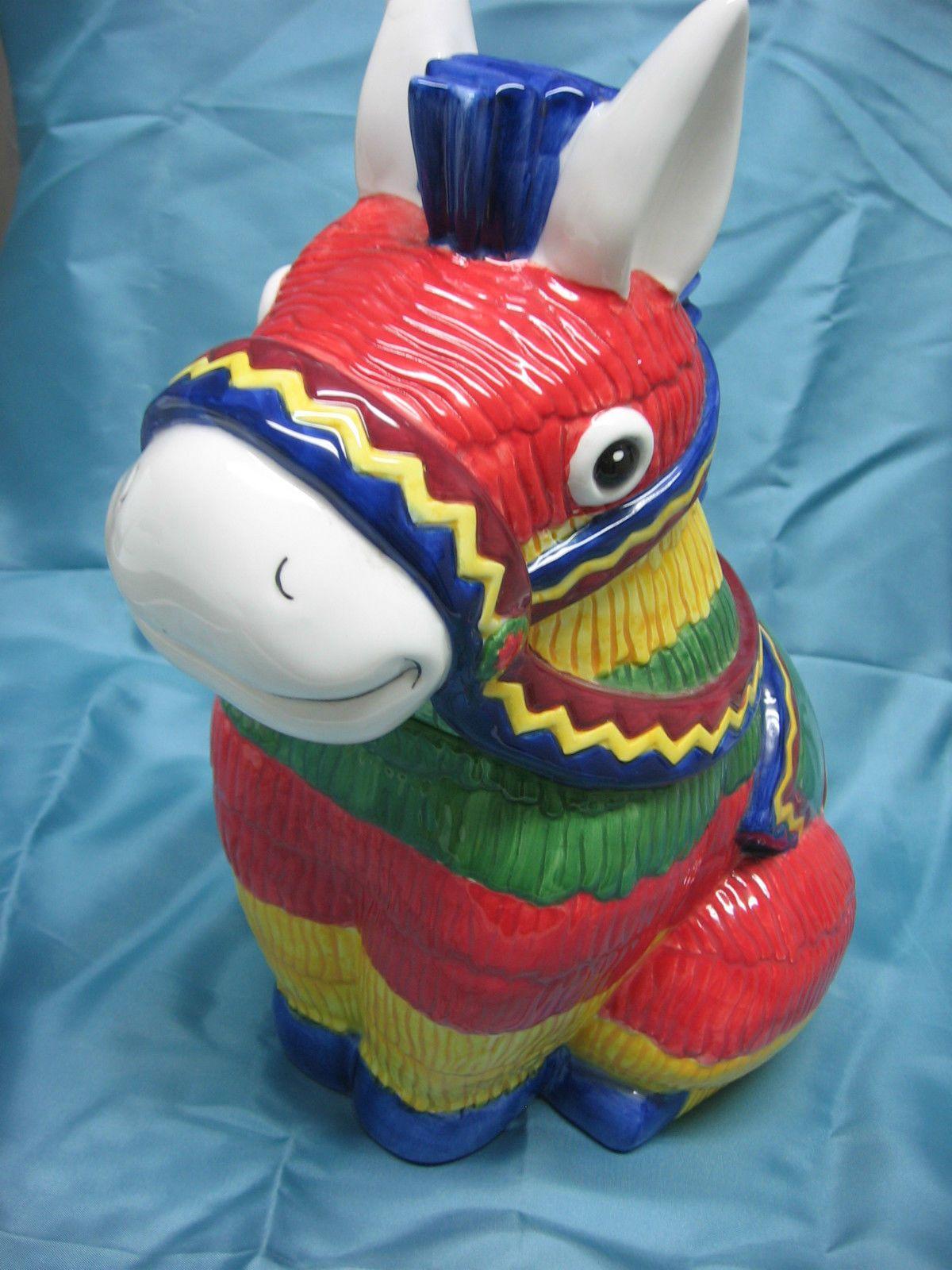 Gibson Donkey Pinata Cookie Jar Bright Colors Save Pets