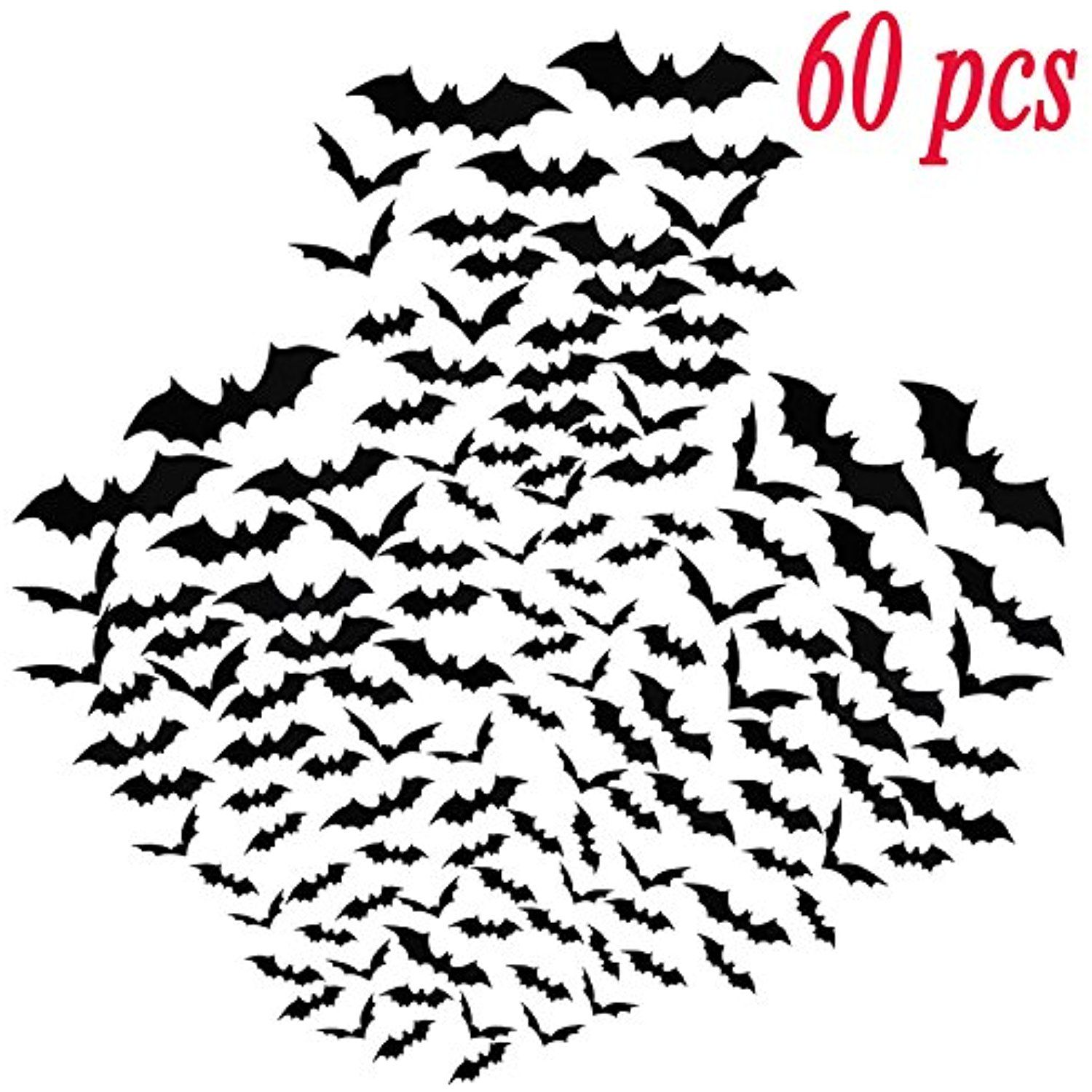 Window decor stickers   pcs d bats stickers halloween wall decoration window decor scary