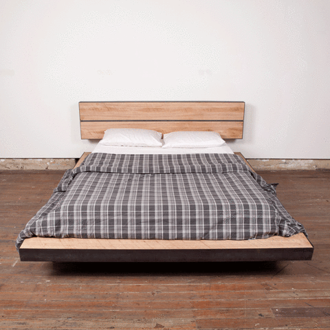 Platform Bed Made From Reclaimed Timber And Steel By Second Origin In Sydney Australia