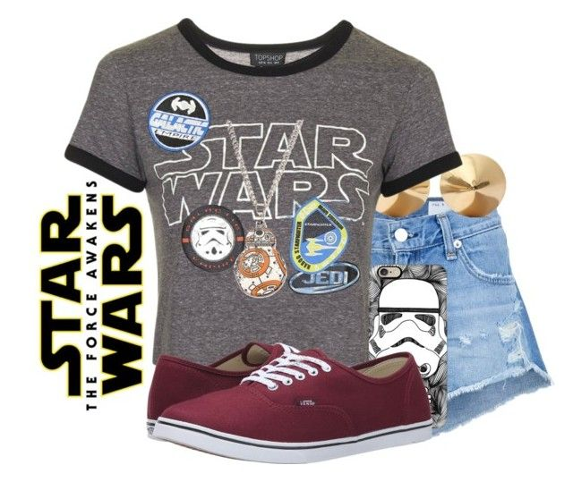 """For the love of STAR WARS!  #168"" by sweet-carol ❤ liked on Polyvore featuring rag & bone/JEAN, Eddie Borgo, Topshop, Casetify and Vans"