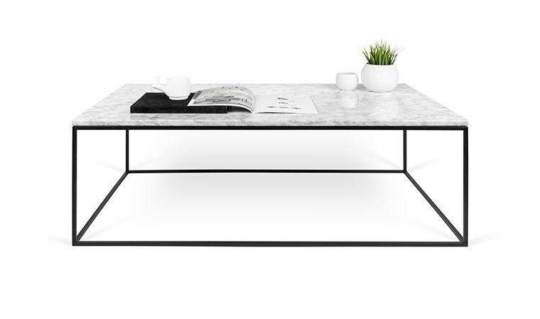 Table Basse En Marbre Blanc Carrare Acier Noir Gleam Gleam 120 Cm Temahome Table Basse Marbre Table Basse Table Basse Rectangulaire