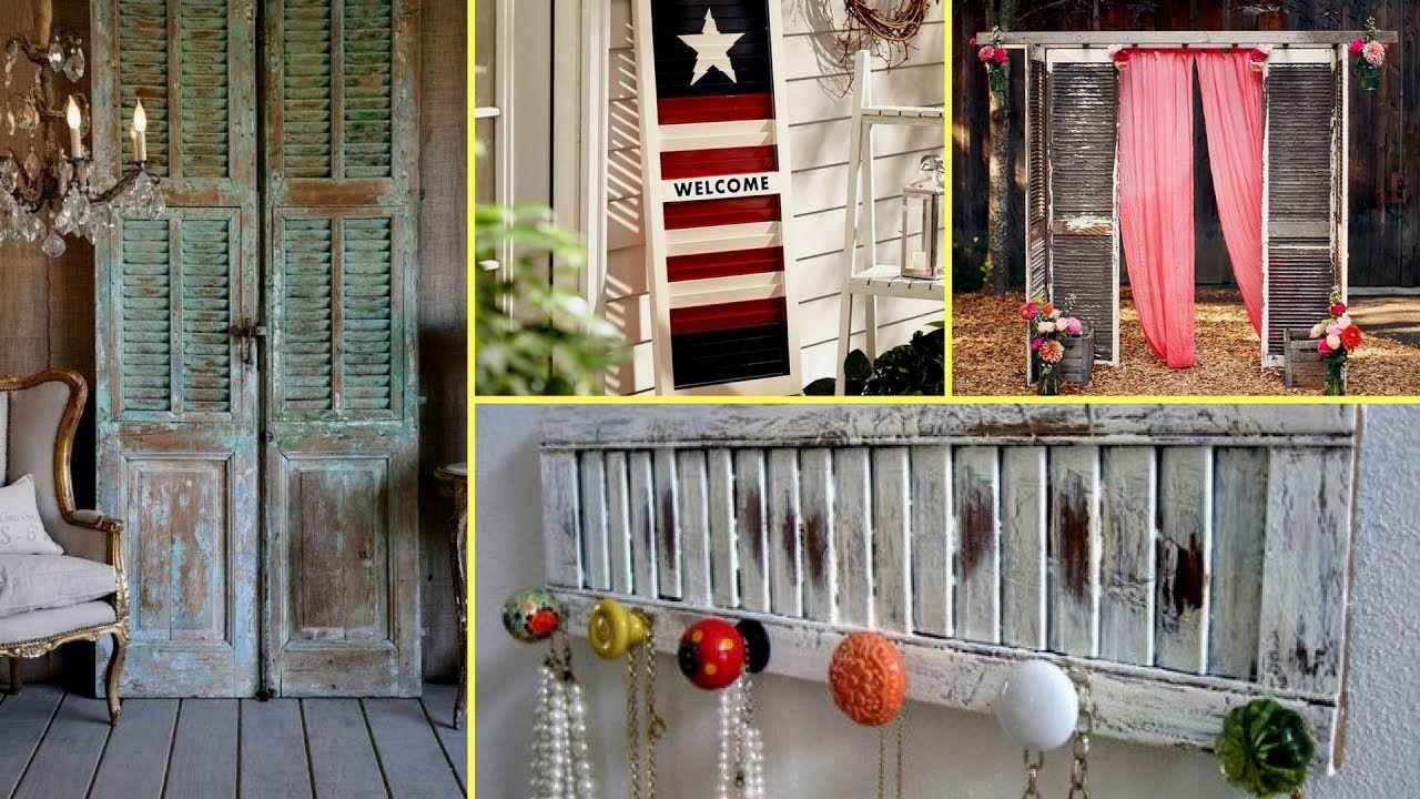 Diy shabby chic shutter decorating ideasfarmhouse style