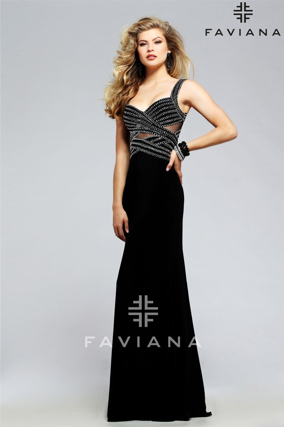 Black dress for prom night - S7806 Black Cut Outs Faviana Glamour Black Prom Dress With Open Back At Hope S