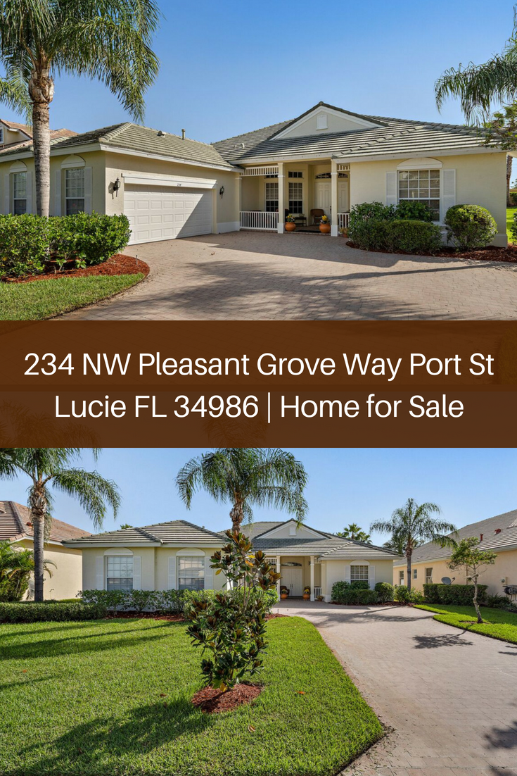 Experience The Best Quality Of Life In The Master Planned Community Of Magnolia Lakes In This Port St Lucie Home F Port St Lucie Pleasant Grove Fenced In Yard