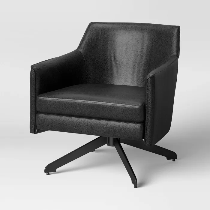 Albert Swivel Accent Chair With Metal Base Project 62 In 2021 Accent Chairs Swivel Accent Chair Upholstered Arm Chair