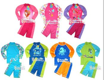 6a6b297b53f1b Free shipping Child swimwear UV Protection +50 Swimming Suit boy two pieces  long sleeve hot