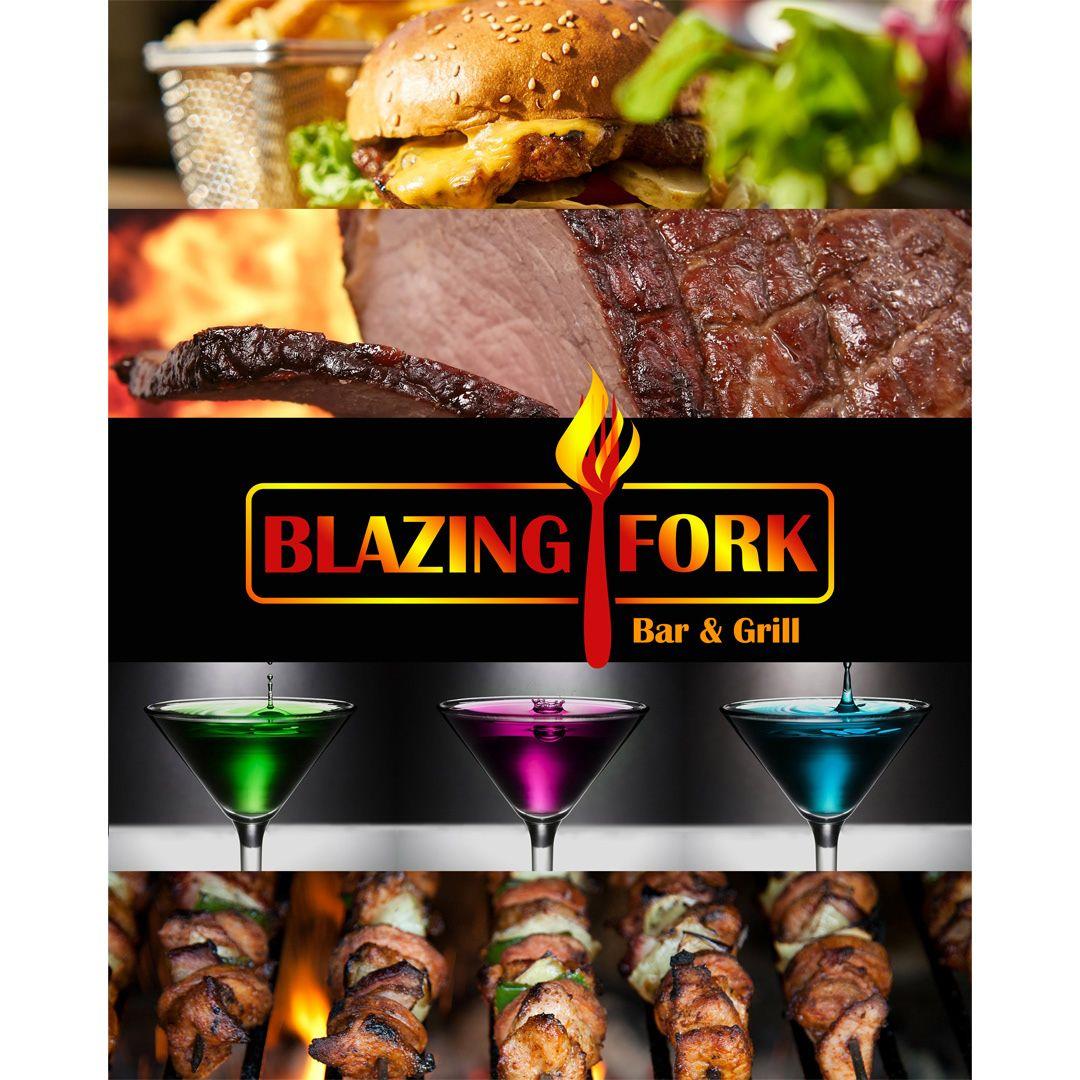 Blazing Fork Logo Design In