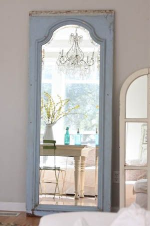 Turn An Old Door Frame Into An Elegant Standing Mirror Budget