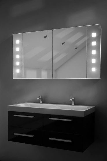 LED Vishnu Demist Cab | Large bathroom cabinets, Mirror ...