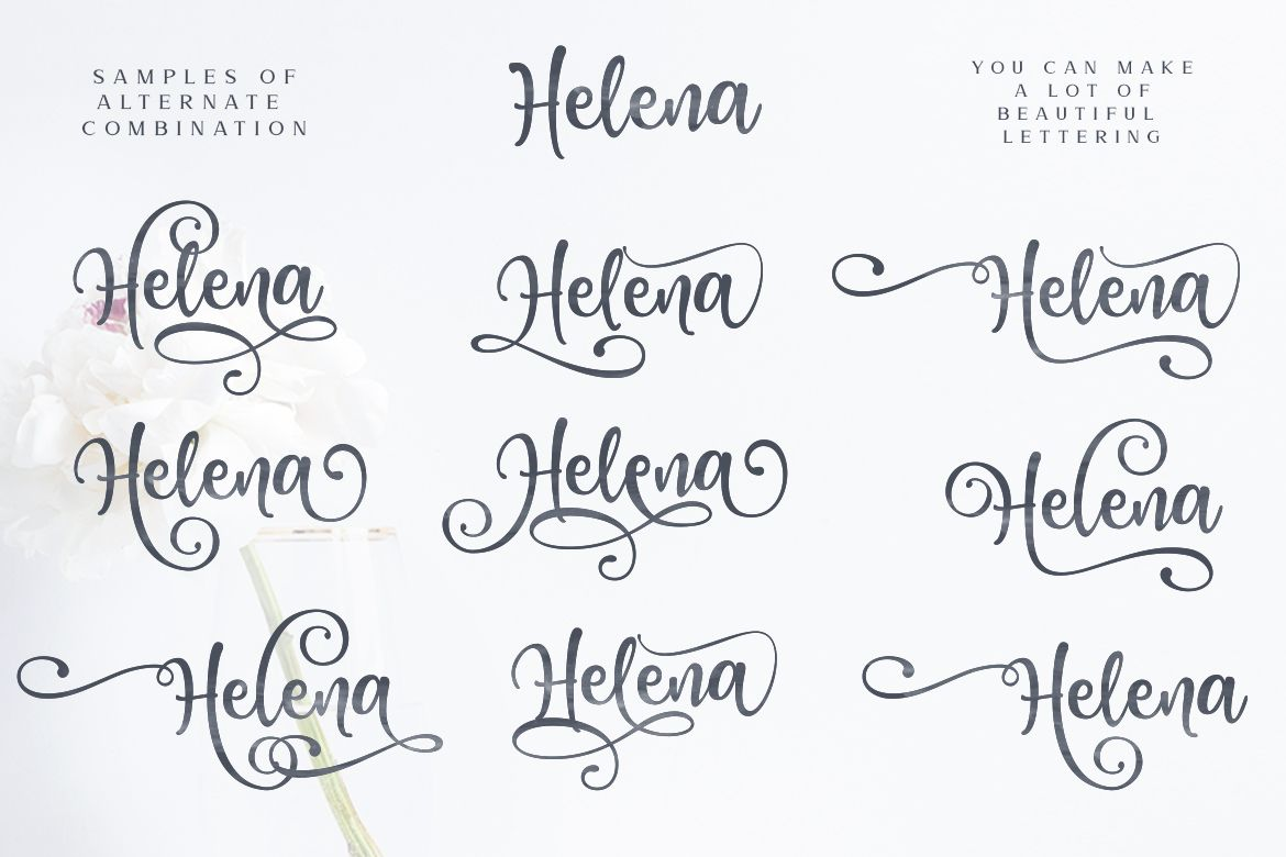 Download Honey Butter Font Trio & 260 Vectors example image 9 ...