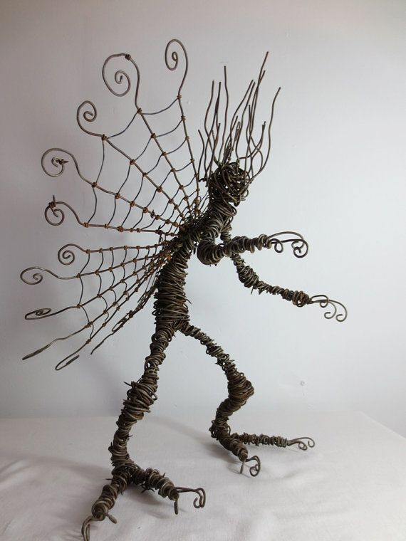wire dude with spider web wings | Holiday - Halloween! | Pinterest ...