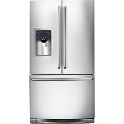 Electrolux EI23BC65KS 22.6-cu ft Counter-Depth French Door Refrigerator Dual Ice Maker (Stainless Steel) ENERGY STAR