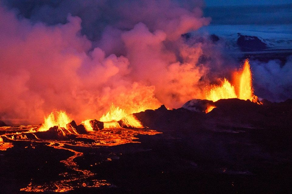 Holuhraun eruption. Photo by Dadi Hardarson