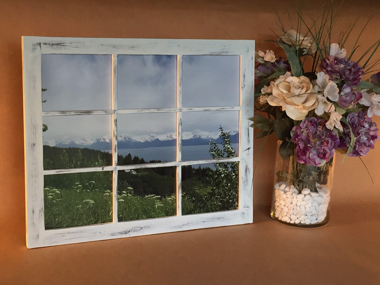 16x20 Rustic Window Frame, Window Picture Frame, Farmhouse window, 9 panes, Window panes, -   - #16x20 #Farmhouse #frame #panes #Picture #Rustic #window #windowcoverings #windowpaneideas #windowseat #windowtreatments #windowtreatmentslivingroom #windowtrim