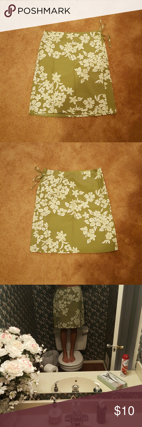 Selling this Hawaiian style wrap around skirt on Poshmark! My username is: rookiemaster. #shopmycloset #poshmark #fashion #shopping #style #forsale #American Eagle Outfitters #Dresses & Skirts