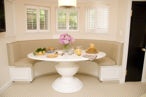 Booth In Kitchens Design Ideas Pictures Remodel And Decor Kitchen Booths Transitional Dining Room Oval Table Dining