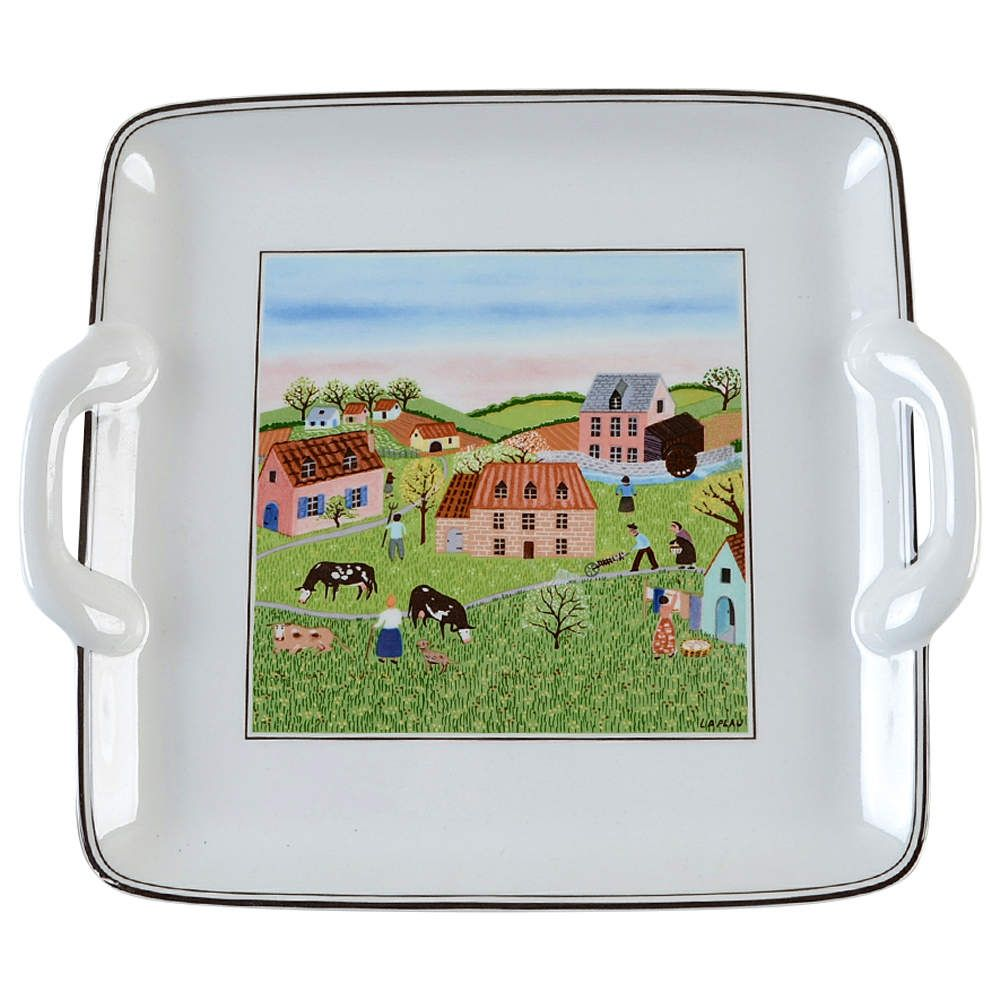 Design Naif Square Handled Cake Plate By Villeroy Boch In 2021 Cake Plates Villeroy Boch Design