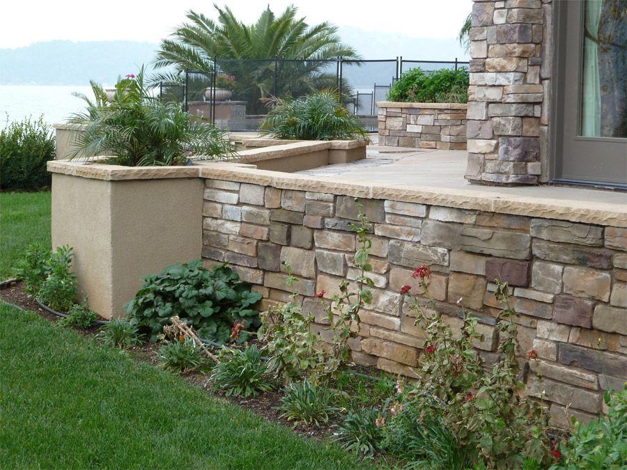 Stone Veneer Retaining Walls Google Search Backyard Landscaping Designs Turf Installation Backyard Landscaping