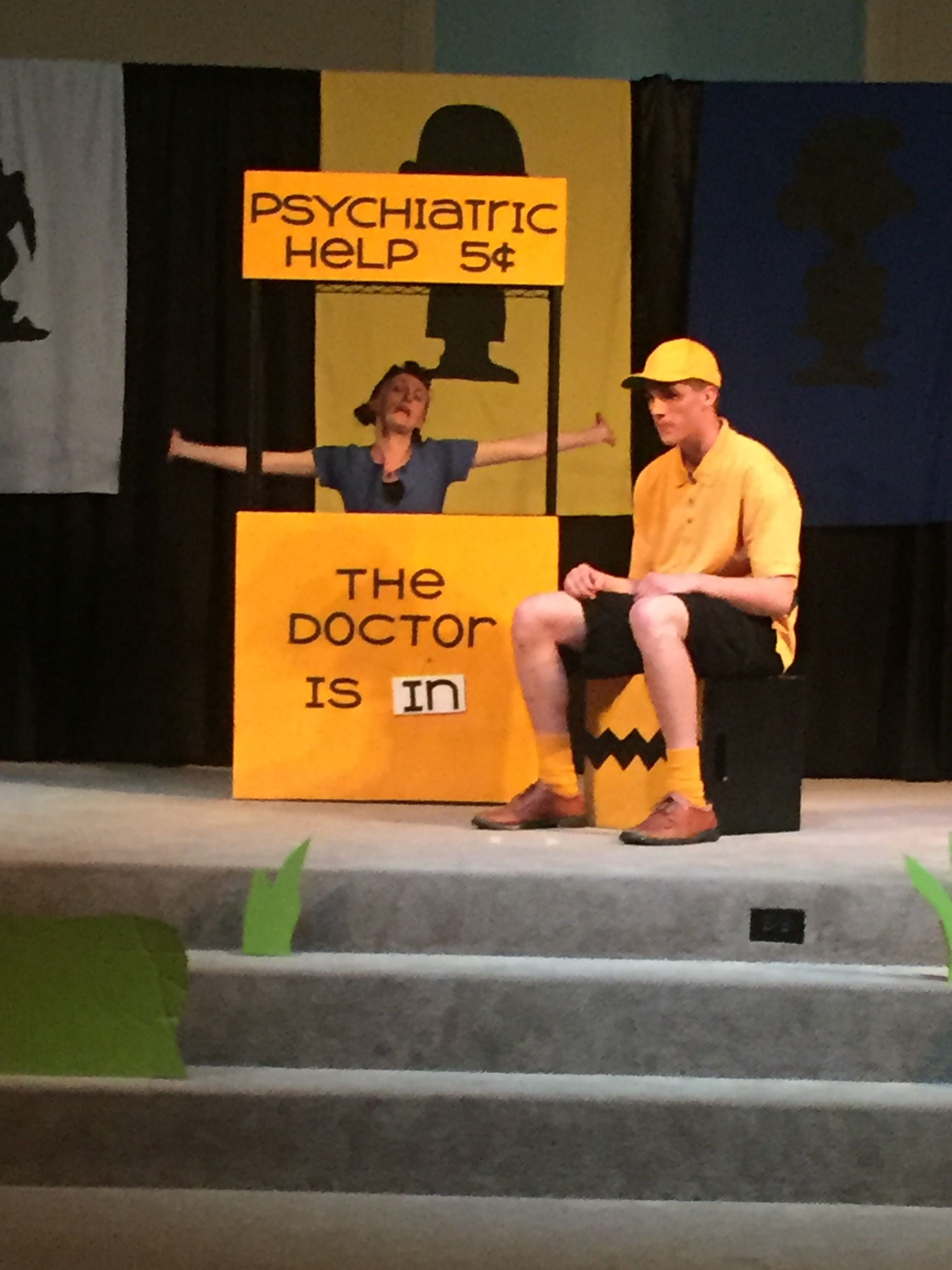 You Re A Good Man Charlie Brown Psychiatric Help Booth Lucy Charlie Charlie Brown Christmas Charlie Brown Costume Christmas Play
