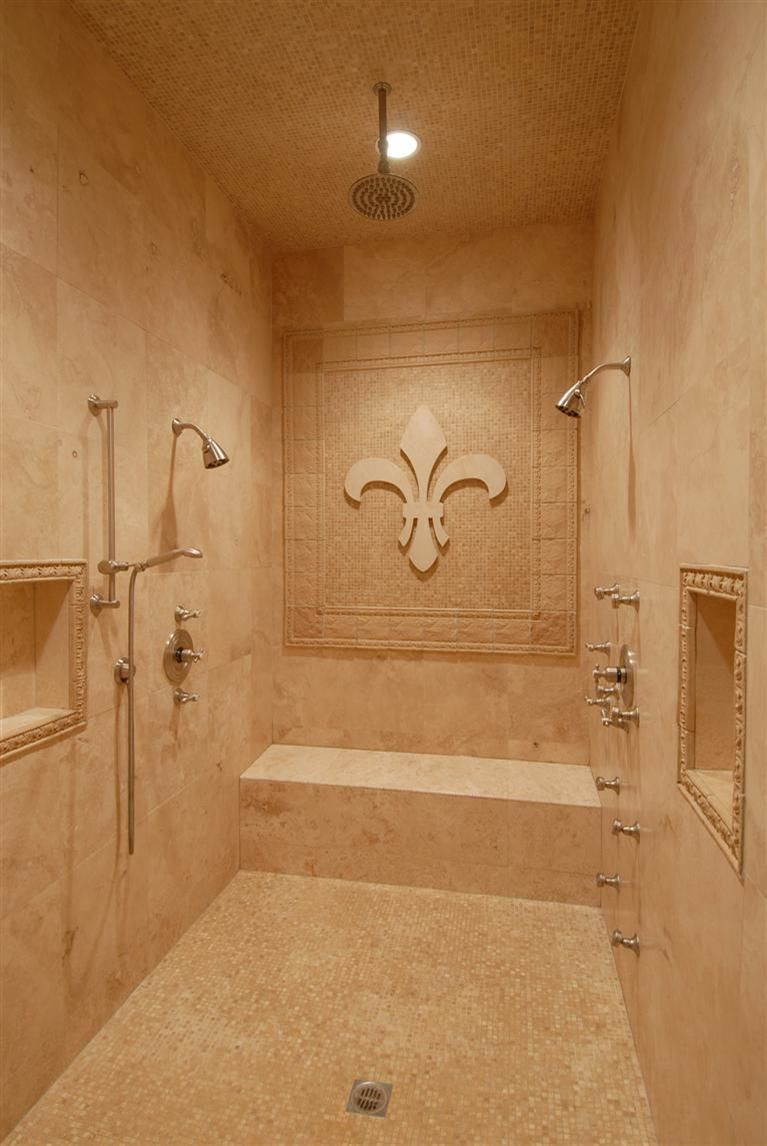 Perfect fleur de lis shower....Sam would kill me if I did this!!!