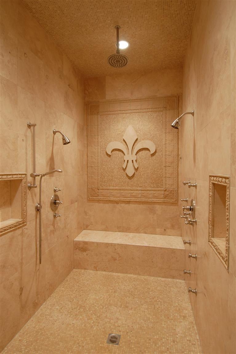 Perfect fleur de lis shower....Sam would kill me if I did this!!!