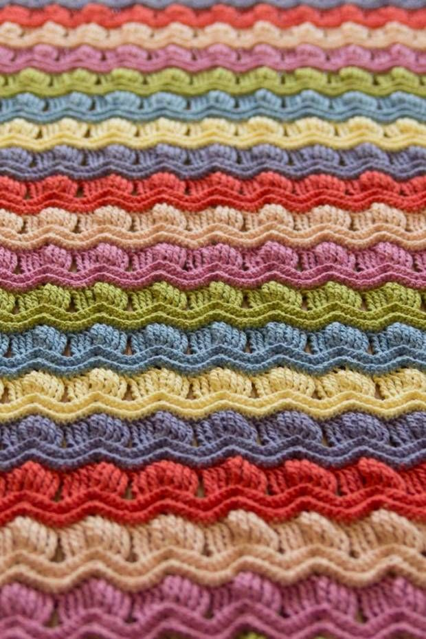 LOVE this pattern! Vintage fan ripple crochet afghan blanket - with ...