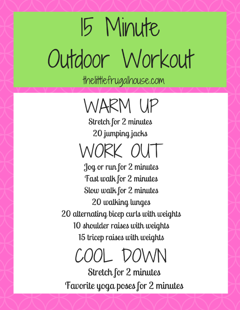 15-minute outdoor workout