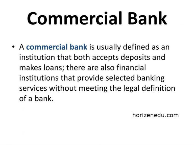 Commercial Bank Definition Function Type Commercial Bank