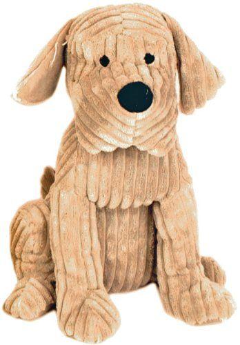 Take Me Home Cute Dog Door Stop - Chunky Cord Ribbed Dog 28cm - Tan