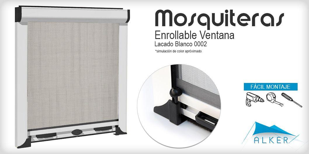 Mosquitera Enrollable Ventana Lacado Blanco Mosquiteras Enrollable