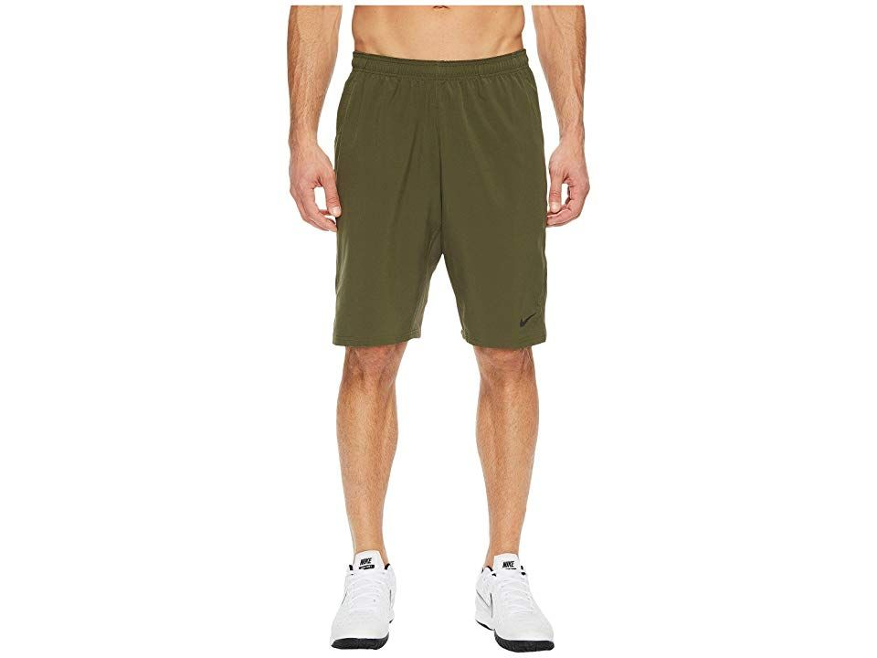 Nike NET 11 Woven Short Cargo KhakiBlack Mens Shorts You shake hands at the net but youre ready to bring it each and every time in this Nike NET Woven Short DriFIT highpe...