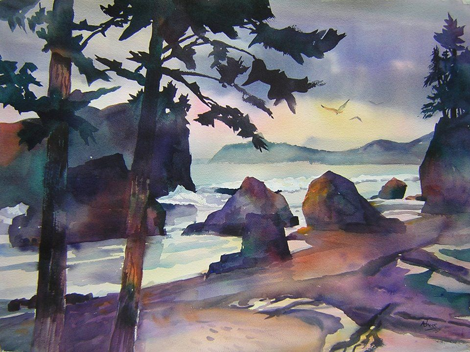 "So Beautiful.  ""Northwest Coast"" by John F. Adams, whose art I've discovered on  Facebook.  Love this so much.  I'm a fan!  ~ Sandy Fox, Wilmington NC."